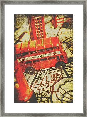 Weathered Bus Routes Framed Print