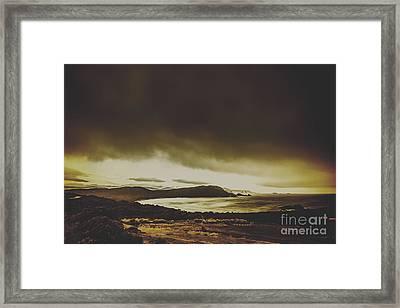 Weathered Coastline Framed Print