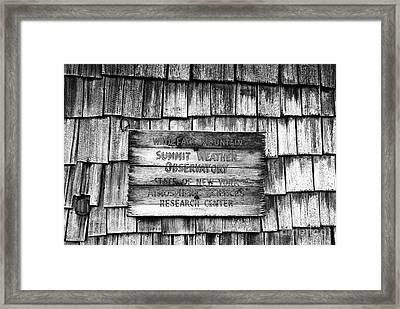 Weathered Framed Print by David Lee Thompson