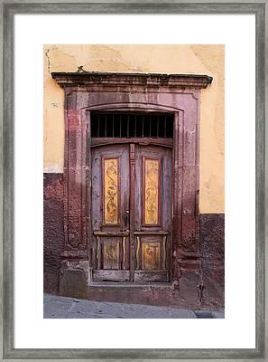 Weathered Door Framed Print