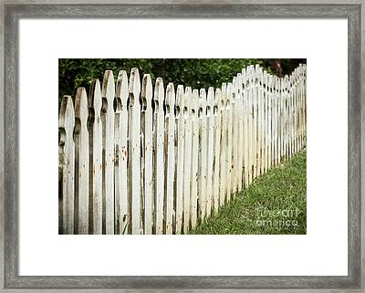 Framed Print featuring the photograph Weathered Fence by Todd Blanchard