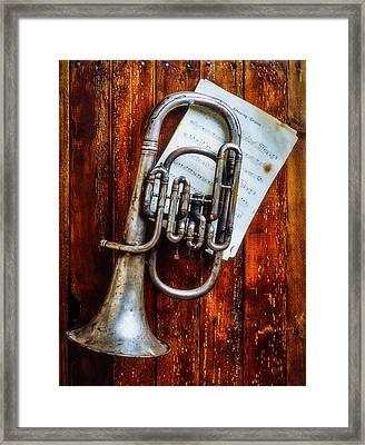 Weathered Flugel Horn Framed Print