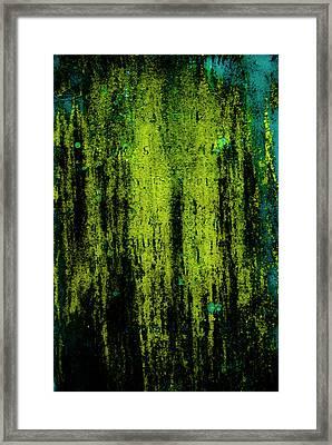Weathered Gravestone Framed Print by Grebo Gray