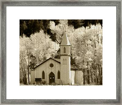 Weathered House Of Worship Framed Print by Kevin Munro