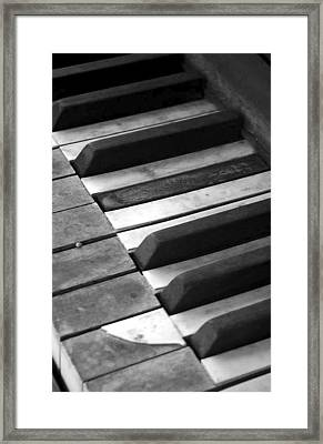 Weathered Music Framed Print