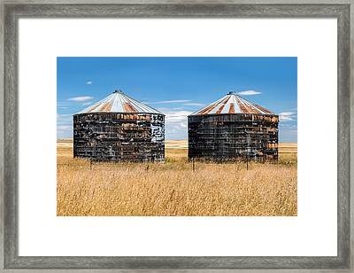 Weathered Old Bins Framed Print