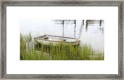 Weathered Old Skiff - The Outer Banks Of North Carolina Framed Print
