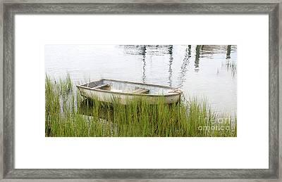 Weathered Old Skiff - The Outer Banks Of North Carolina Framed Print