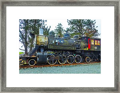 Weathered Old Train Framed Print by Garry Gay