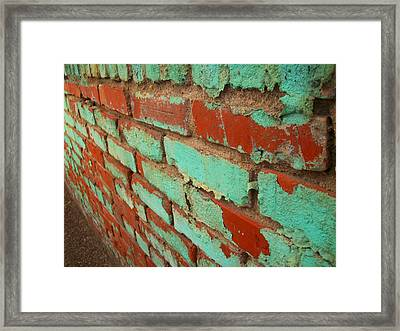 Weathered Painted Wall Framed Print by Edmund Akers