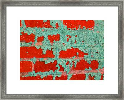 Weathered Painted Wall Two Framed Print by Edmund Akers