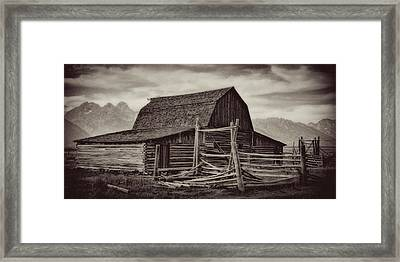 Weathered Peaks Framed Print by Lana Trussell