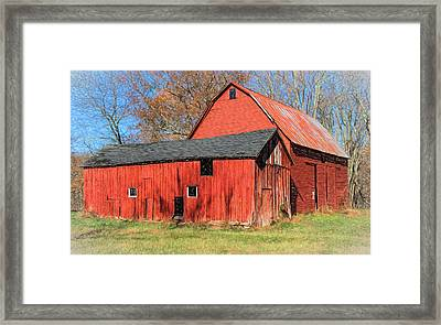 Weathered Red Barn Framed Print