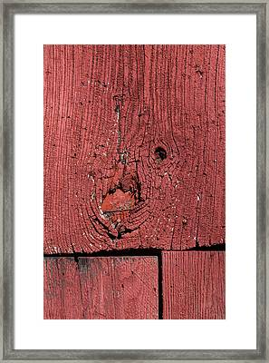 Weathered Red Barn Wood  Framed Print