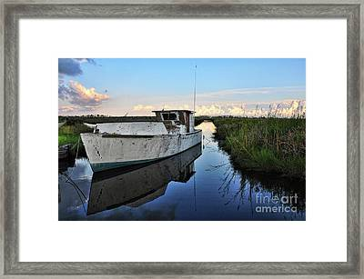 Weathered Reflection Framed Print