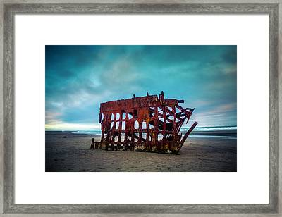 Weathered Rusting Shipwreck Framed Print by Garry Gay