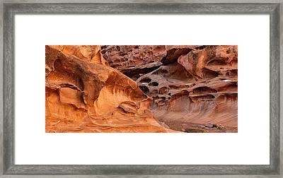 Weathered Sandstone Framed Print by Leland D Howard