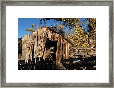 Weathered Shed In The Desert Framed Print