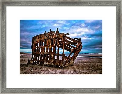 Weathered Shipwreck Framed Print by Garry Gay