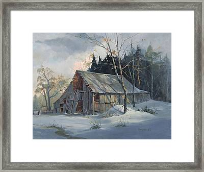 Weathered Sunrise Framed Print by Michael Humphries