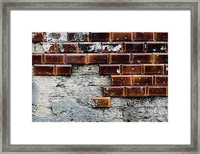 Weathered Tile Wall Framed Print