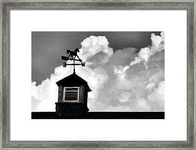 Weathered Vane Framed Print