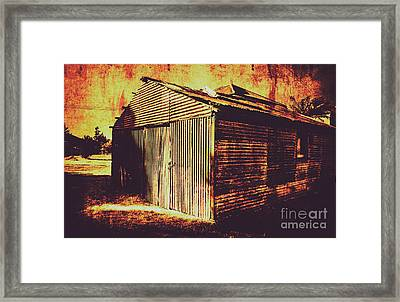 Weathered Vintage Rural Shed Framed Print