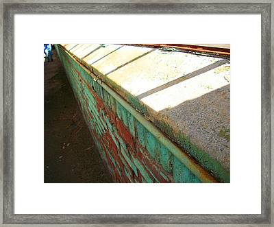 Weathered Window Seal Framed Print by Edmund Akers