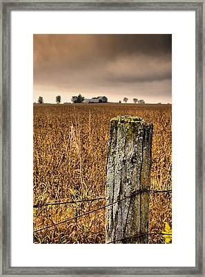 Weathered Wire..  Framed Print by Russell Styles