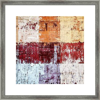 Weathered Wood Colorful Crossing 3 Of 3 Framed Print