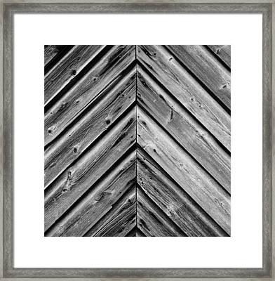 Weathered Wood Framed Print by Larry Carr