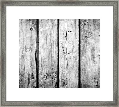 Framed Print featuring the photograph Weathered Wooden Background Black And White by Tim Hester
