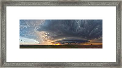 Weatherford Oklahoma Sunset Supercell Framed Print