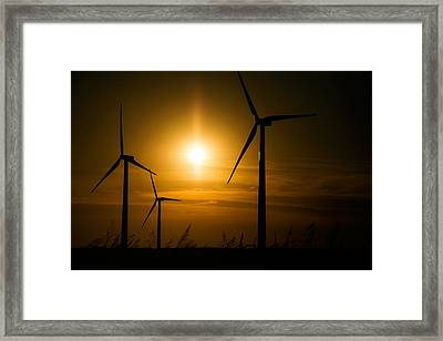 Weatherford Wind Power Framed Print by Lana Trussell