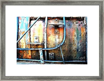 Framed Print featuring the photograph Weathering Steel - Rail Rust by Janine Riley