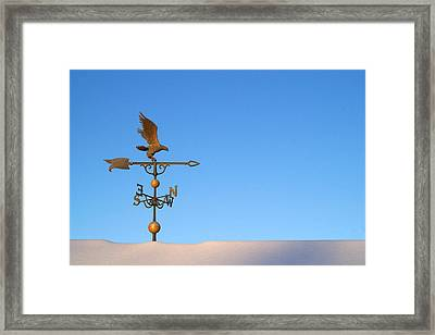 Weathervane On Snow Framed Print by Robert  Suits Jr