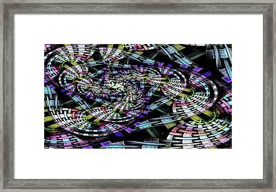 Weaved Framed Print