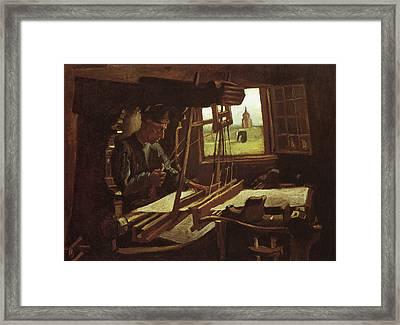 Weaver Near An Open Window, 1884 Framed Print by Vincent Van Gogh