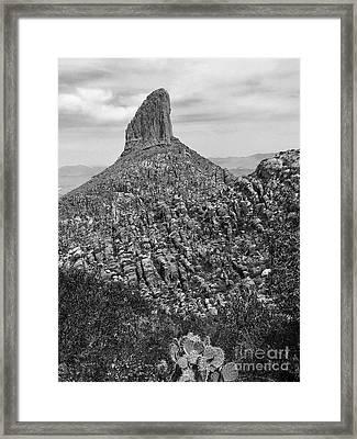 Weaver's Needle II Framed Print