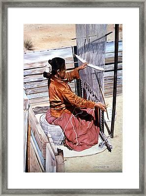 Weaver's Tale Framed Print by John Watt