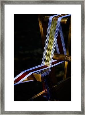 Weaving At Dawn Framed Print