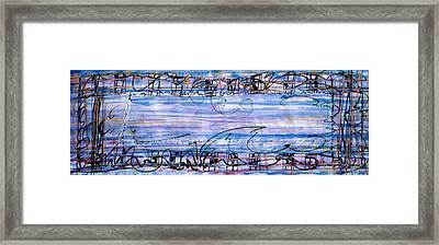 Weaving Evening Framed Print by Tom Hefko