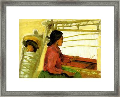 Framed Print featuring the painting Weaving The Way by FeatherStone Studio Julie A Miller