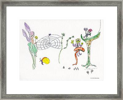 Web Faeries Framed Print