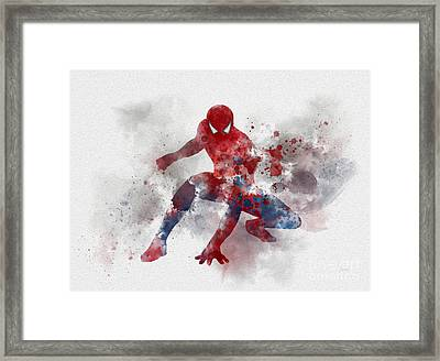 Web Head Framed Print by Rebecca Jenkins