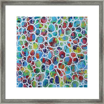 Web Of Colour 2 Resin Framed Print