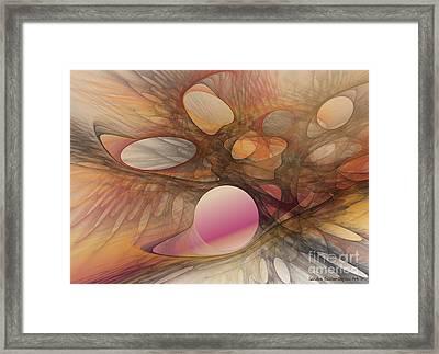 Web Of Dimensions Framed Print by Sandra Bauser Digital Art