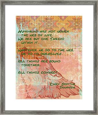 Web Of Life Framed Print by Paulette B Wright