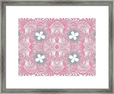 Web Of Threads 1 Framed Print by Ganesh Barad