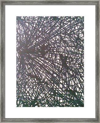 Webbed Framed Print by Lalhmunlien Varte